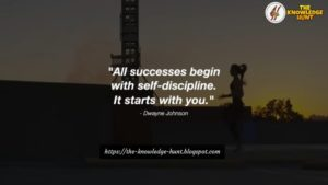 Self discipline starts with you
