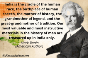 Quote by Mark Twain about India