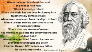 Indian Independence day Wishes | Rabindranath Tagore